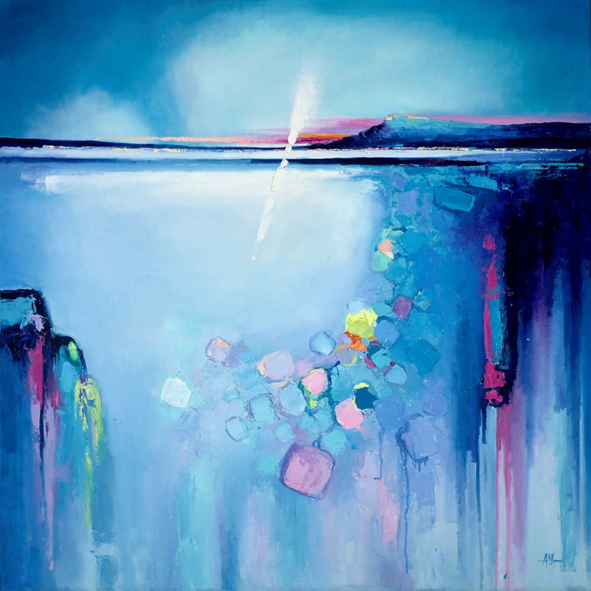 Clear Blue Sea I by anna gammans -  sized 39x39 inches. Available from Whitewall Galleries